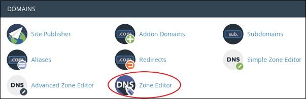 cPanel - Domains - Zone Editor icon